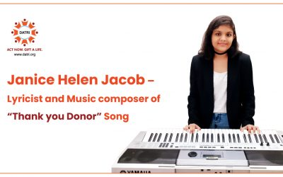 """Janice Helen Jacob – Lyricist and Music composer of """"Thank you Donor"""" Song"""